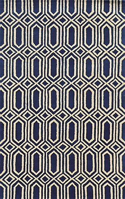 Rizzy Home Julian Pointe Collection 100% Premium Blended Wool 3' x 5' Blue (JLPJP877700090305)