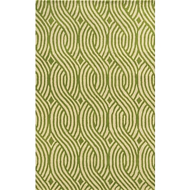 Rizzy Home Julian Pointe Collection 100% Premium Blended Wool 5'x8' Green (JLPJP8866LVWH0508)