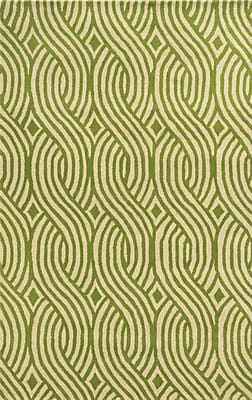 Rizzy Home Julian Pointe Collection 100% Premium Blended Wool 2' x 3' Green (JLPJP8866LVWH0203)