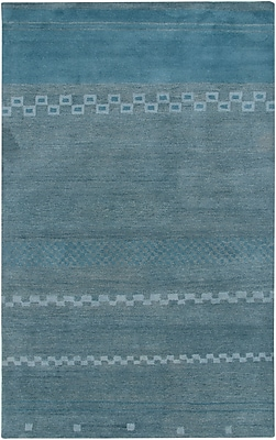 Rizzy Home Mojave Collection 100% Hard-Twist Wool 8'x10' Blue (MOJMV316100090810)