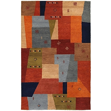 Rizzy Home Mojave Collection 100% Hard-Twist Wool 5'x8' Multi-Colored (MOJMV844700540508)