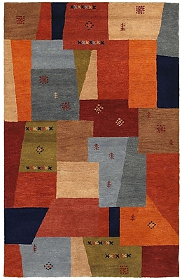 Rizzy Home Mojave Collection 100% Hard-Twist Wool 2' x 3' Multi-Colored (MOJMV844700540203)