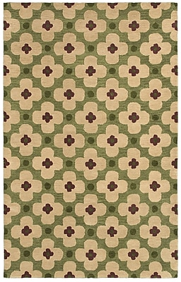 Rizzy Home Opus Collection 100% Wool 5'x8' Green (OPUOP809700300508)