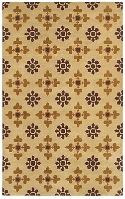 Rizzy Home Opus Collection 100% Wool 2' x 3' Khaki (OPUOP811200450203)