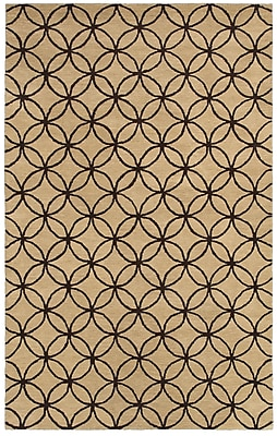 Rizzy Home Opus Collection 100% Wool 5'x8' Khaki (OPUOP811404120508)