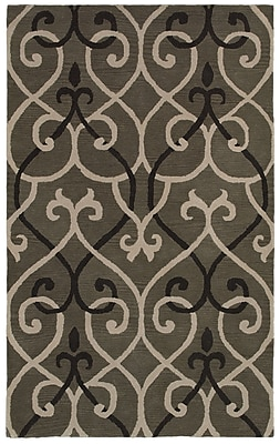 Rizzy Home Opus Collection 100% Wool 3' x 5' Gray (OPUOP811800330305)