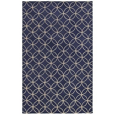 Rizzy Home Opus Collection 100% Wool 3' x 5' Blue (OPUOP812009370305)