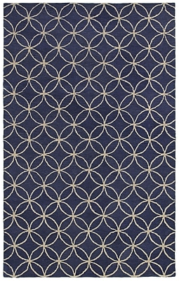 Rizzy Home Opus Collection 100% Wool 2' x 3' Blue (OPUOP812009370203)