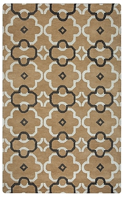 Rizzy Home Opus Collection 100% Wool 5'x8' Camel (OPUOP895900880508)