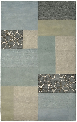 Rizzy Home Pandora Collection Twisted New Zealand Wool Blend 8'x10' Blue (PANPR021400090810)