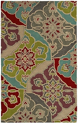 Rizzy Home Pandora Collection Twisted New Zealand Wool Blend 2' x 3' Multi-Colored (PANPR814500540203)