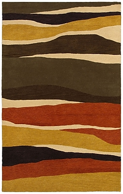 Rizzy Home Pandora Collection Twisted New Zealand Wool Blend 8'x10' Multi-Colored (PANPR814600750810)