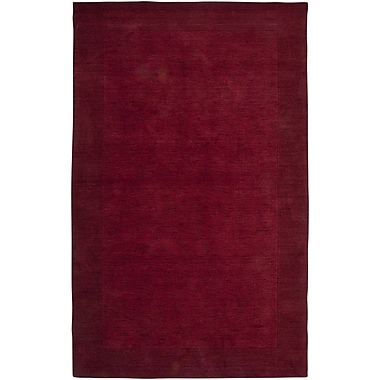 Rizzy Home Platoon Collection New Zealand Wool Blend 3' x 5' Red (PLAPL086600700305)