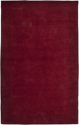 Rizzy Home Platoon Collection New Zealand Wool Blend 8'x10' Red (PLAPL086600700810)