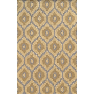 Rizzy Home Rockport Collection 100% Premium Blended Wool 3' x 5' Light/Dark Tan (RPTRP873600330305)