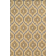 Rizzy Home Rockport Collection 100% Premium Blended Wool  5'x8' Light/Dark Tan (RPTRP873600330508)