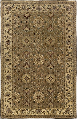 Rizzy Home Shine Collection 100% Semi-Worsted New Zealand Wool 5'x8' Dark Khaki (SHISN033412040508)