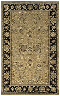 Rizzy Home Shine Collection 100% Semi-Worsted New Zealand Wool 9'x12' Khaki (SHISN034104060912)