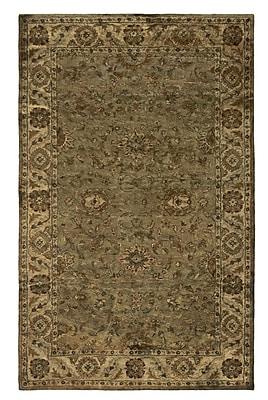 Rizzy Home Shine Collection 100% Semi-Worsted New Zealand Wool 8'x10' Khaki (SHISN034830040810)