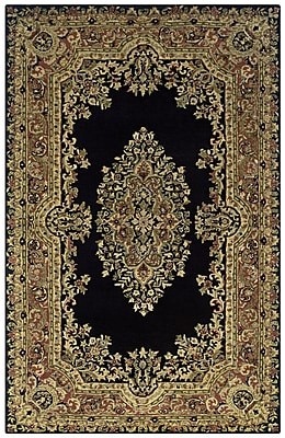 Rizzy Home Shine Collection 100% Semi-Worsted New Zealand Wool 5'x8' Black (SHISN035106750508)