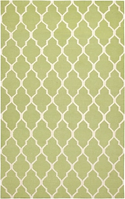 Rizzy Home Swing Collection New Zealand Wool Blend 3' x 5' Green (SWISG210000470305)