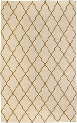 Rizzy Home Swing Collection New Zealand Wool Blend 5'x8' Light Tan (SWISG296104280508)