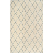 Rizzy Home Swing Collection New Zealand Wool Blend 8'x10' Off White  (SWISG296304460810)
