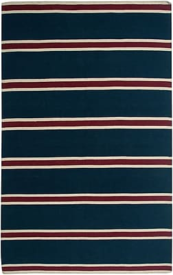 Rizzy Home Swing Collection New Zealand Wool Blend 8'x10' Navy (SWISG304400090810)
