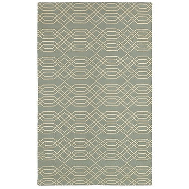 Rizzy Home Swing Collection New Zealand Wool Blend 8'x10' Blue (SWISG815900430810)