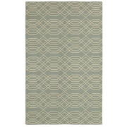 Rizzy Home Swing Collection New Zealand Wool Blend 3' x 5' Blue (SWISG815900430305)