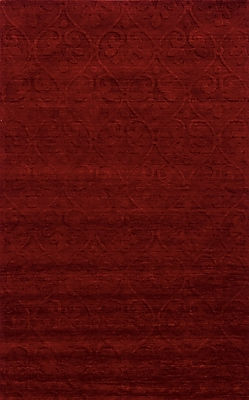 Rizzy Home Technique Collection 100% Wool 5'x8' Burgundy (TECTC826800700508)