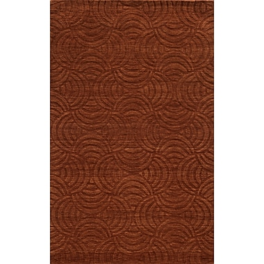 Rizzy Home Technique Collection 100% Wool 9'x12' Rust (TECTC827000750912)