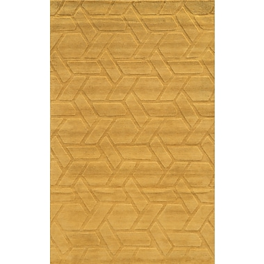 Rizzy Home Technique Collection 100% Wool 2' x 3' Yellow/Gold (TECTC828600040203)