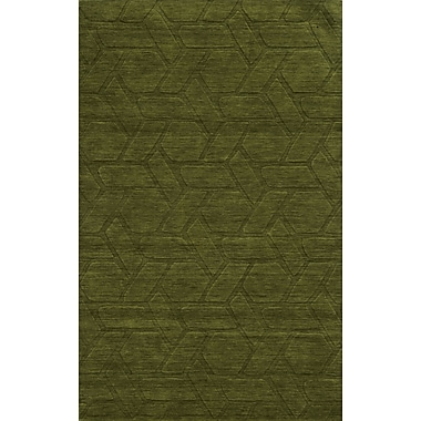 Rizzy Home Technique Collection 100% Wool 9'x12' Green/Olive (TECTC828800300912)