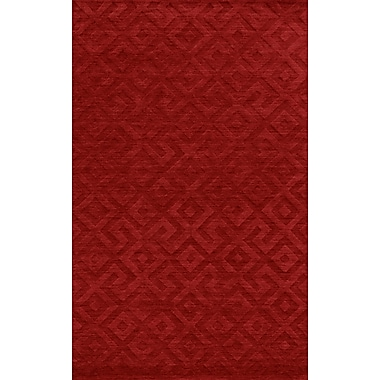 Rizzy Home Technique Collection 100% Wool 8'x10' Red (TECTC828900700810)