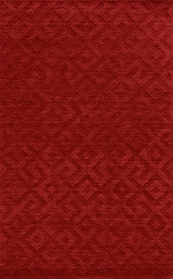 Rizzy Home Technique Collection 100% Wool 9'x12' Red (TECTC828900700912)