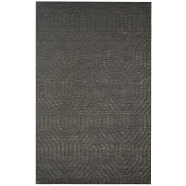 Rizzy Home Technique Collection 100% Wool 8'x10' Gray/Charcoal (TECTC857433000810)