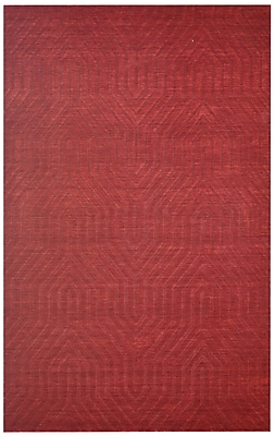 Rizzy Home Technique Collection 100% Wool 3' x 5' Red (TECTC857500140305)