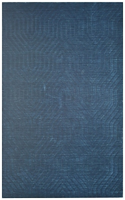 Rizzy Home Technique Collection 100% Wool 5'x8' Navy (TECTC857600090508)