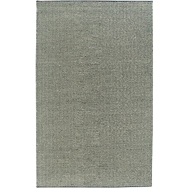 Rizzy Home Twist Collection New Zealand Wool Blend 5'x8' Black (TSTTW296600060508)