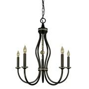Framburg Isolde 5-Light Candle-Style Chandelier; Polished Nickel