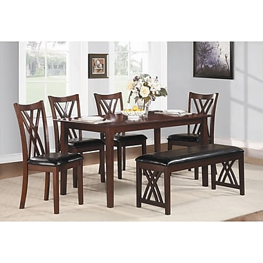 Woodhaven Hill Brooksville 6 Piece Dining Set