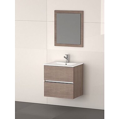 Eviva Ikaro 24'' Single Bathroom Vanity Set; Medium Oak