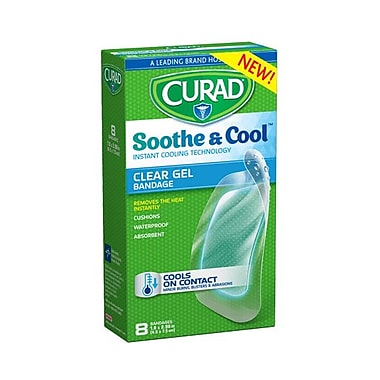 """CURAD® Soothe & Cool Clear Gel Bandages 1.8""""x2.96"""", 8 Count"""
