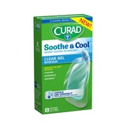 "CURAD® Soothe & Cool Clear Gel Bandages 1.8""x2.96"", 8 Count"