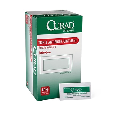 CURAD® Triple Antibiotic Ointment, .03 OZ, 144 Count