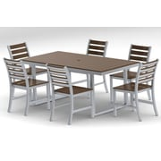 Elan Furniture Kinzie Outdoor Modern 7 Piece Dining Set