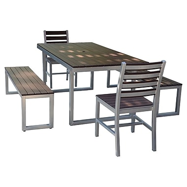 Elan Furniture Kinzie Outdoor Modern 5 Piece Dining Set