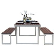 Elan Furniture Kinzie Outdoor Modern 3 Piece Dining Set