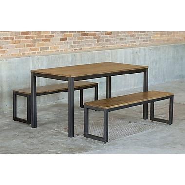 Elan Furniture Loft 3 Piece Dining Set; Chocolate / Checker Black